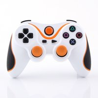 Wholesale Orange plus White Wireless Bluetooth Sixaxis Controller for Sony PS3 Console Game