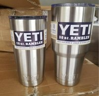 Wholesale Yeti Cups Cooler Stainless Steel YETI Rambler Tumbler Cup Car Vehicle Beer Mugs Vacuum Insulated Refly oz oz oz DHL Free