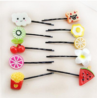 Wholesale Cute Friuts Hair Pins Colorful Creative Hair Accessory Hair Clips for Young Girl In Stock Hot Sell