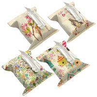 Wholesale Love and Heart Decorate Tissue Boxes Fabric Linen Cover Car Home Office bathroom