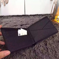 bi fashion - 2016 Genuine Leather Men Short Wallet Famous Brand Women Fashion clutch Bi Fold Purses men s credit Card holder Suit Wallets N60895 M60895