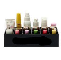 Wholesale Acrylic Grids Desktop Cosmetics Lipsticks Storage Box Cosmetic Organizer