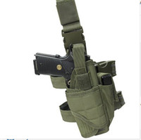 Wholesale Adjustable Outdoor Hunting Waterproof Tactical Nylon Puttee Thigh Leg Pistol Gun Holster Pouch Quick Release Buckle