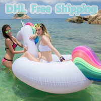Wholesale 275cm inch inflatable Unicorn Giant Pool Float Swimming Float for Adult Tube Raft Kid Swim Ring Summer Water Fun Pool Toy