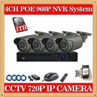 Precio de Cámara de vídeo mini caja de circuito cerrado de televisión-CIA-4 canales sistema de CCTV 720p Mini poe poe ip cámara grabadora HD 4 canales de Seguridad videovigilancia hogar al aire libre HDMI P2P POE CCTV NVR