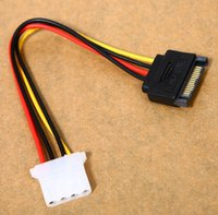 Wholesale Male Power Cable to Molex IDE pin Female Power Drive Adapter SATA pin New