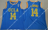 Wholesale UCLA Zach LaVine Bruins Authentic Game Elite Round Neck Stitched Blue Jersey Shirts Uniforms Embroidery logos Wholesalers