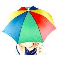 beach umbrella s - Fishing Hiking Golf Beach Foldable Headwear HandsFree Parasol Umbrella Hat Cap