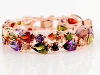 african christmas ornaments - Luxury Mona Lisa Bracelets Zircon Wedding Bracelet Women Hand Decor Ornament Bangle Rose Gold Jewelry Lovers Birthday Christmas Gift Vogue