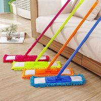 aluminum rod stock - Colorful Floor Mops Cleaner Handheld Sweeper Broom Extendable Microfibre Sweeper Home Cleaning Tool Degree Rotatable