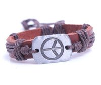 bangle braclets - DHL free Charms Vintage stop fly eather braslets men women bracelets pulseras hombre pulseiras de couro braclets for best friends
