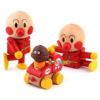 Wholesale pc DIY wooden toys Anpanman deformation doll for baby
