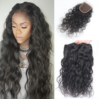 Wholesale 8A Brazilian Water Wave Hair With Closure Bundles With Closure Brazilian Wet And Wavy Hair With Closure Wavy Human Hair