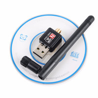 Wholesale NEW USB Wireless Network Lan Card Mbps with dB antenna G Portable Strong Reception Signal Wifi Adapter Router Free Ship