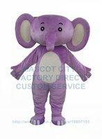 baby elephant costume - purple elephant baby mascot costume adult size cartoon elephant theme anime cosply costumes carnival fancy dress