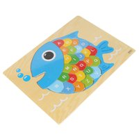 Wholesale Wooden Letter Jigsaw Puzzle Animal Plane Puzzles with Alphabet Educational Toys For Children Kids Gift Animal Optional