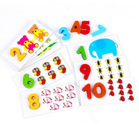 baby safe paint - baby Math Toys learning number safe Paint wooden good gift for baby kids