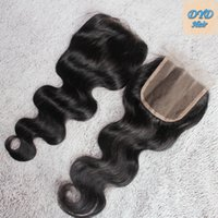 Wholesale Brazilian Hair Lace Closure Body Wave No Shedding Free Middle Three Part High Quality Unprocessed Human Hair