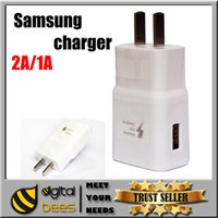 Wholesale Samsung S6 USB Power Adapter Universal Home Battery Charger V A V A In One Port usb wall Chargers travel AC Adapters