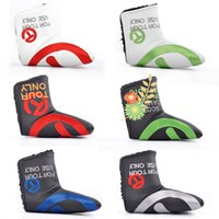 big golf clubs - The fashionest big T golf putter headcover colors pu leather golf headcover sale top quality club headcover
