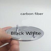 auto accessory carbon - 20Pcs mm Blue White Black White Carbon Fiber Emblem Badge Hood Front Rear Trunk Logo for bmw Auto accessories