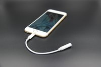 Wholesale For Apple iPhone7 plus earphone Adapter converter cable mm aux audio female adapter to male connector headphone headset charge cord