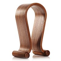Wholesale SAMDI Wooden Headphone Stand Mount Holder Headset Hanger Suitable All Headphone Size In Brown Walnut