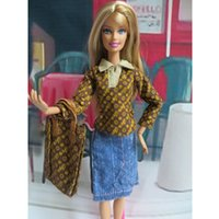 bags suits shoes - New Arrival Clothes Outfits for Barbie Doll Hot Stylish Doll Accessories set T shirt skirt shoes bag