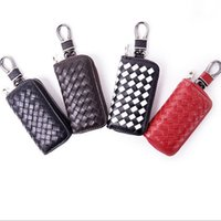 Wholesale Fashion Men Ladies Women Genuine Leather Sheepskin Zipper Weave Knitting Keychain Wallets Change Purse Key Holder Key Case Car Key Bag B6134