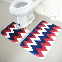 Wholesale x37cm and x75cm bathroom rug and mat toilet non