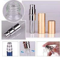 Wholesale Perfume bottle Mini Portable Refillable Atomizer ml Travel Perfume Spray Bottle Metal Empty Perfume Bottle DHL