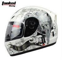 Wholesale Fashion Tanked Racing Full Face Motorcycle helmet with bib electric bicycle motorbike helmets made of ABS Size M L XL XXL