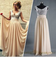 bandages and dressings bandage - Vestidos evening Dresses Cheap Eiffelbride with Sexy Bling Bling Sequined V Neck and Glamorous A Line Chiffon Bridesmaid Gowns