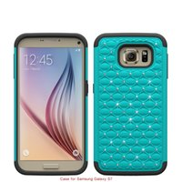 armor painting - for Samsung Galaxy S7 S6 Edge s6 Cell Phone Case Cover paint auger drill anti skidding armor cover strip Shockproof Drop resistant Rugged