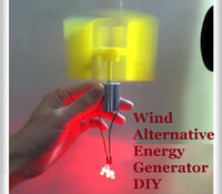 alternative energy generators - 2PCS Miniature Vertical Axis Wind Alternative Energy Generator DIY Technology Making Physical Power Principle