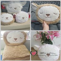 alpaca blanket - NEW Alpaca plush pillow cushion air condition blanket plush toy pillow Snuggie blanket gifts