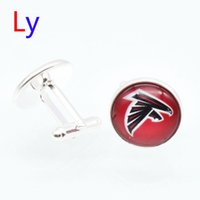 atlanta falcons gifts - Fashion super bowl Cufflink Atlanta football Cufflinks Fathers Day Gifts For Falcons Mens Jewelry Cuff Links YD0057
