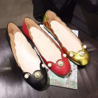 ballerina shoes white - new leather pearl ballerinas elegant floral ballet flat