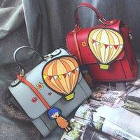 air satin bags - Cute hot air balloon cartoon printed fashion girl strap women s handbag shoulder bag female totes ladies crossbody messenger bag