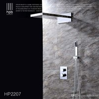 Wholesale Han Pai Brass Thermostatic Bathroom Water Mixer Wall Mounted Bath Shower Panel Set Faucet torneira banheiro HP2207