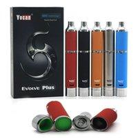 Pluma vaporizador de hierbas Baratos-Auténtica Yocan Evolve Plus Kit E kits de cigarrillos cuarzo 1100mAh batería de doble bobina Kit seco de la hierba Cera vaporizador Pen Kits Evolve D