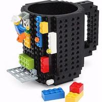 bear pixel - 2016 Creative Bulit On Bricks Coffee Mugs DIY type Building Blocks Tumbler Bear Cups Block Puzzle Mugs Pixel Blocks Mega Bloks Mugs