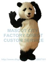 Wholesale Cartoon Character Costume Bear - plush panda mascot costume panda bear mascot custom cartoon character cosply carnival costume 3003