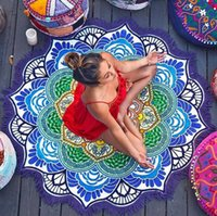 Wholesale Large Microfiber Printed Round Beach Towels With Tassel Circle Wash Bath Beach Towel Serviette De Plage