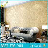 Wholesale Simple D stereoscopic relief European wall covering TV background wallpaper bedroom living room WALLPAPER