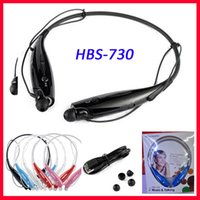 Wholesale HBS HBS HBS730 Wireless Bluetooth Stereo hb Earphone Headset Headphones for Samsung LG iPhone Samsung Smartphones Free DHL