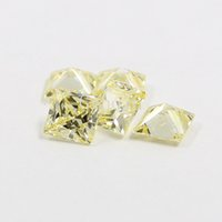 Wholesale AAAAA cubic zirconia light canary yellow square princess cut loose gem stones