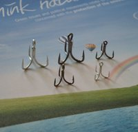 Wholesale Tracking Shipping Hot Stainless Steel X Strong BKK Fishing Treble Hook Lure Hook For Big Fish