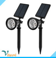 Wholesale Super bright solar Powered Garden Light leds W Led spotlight outdoor waterproof Lawn floodlight IP65 white