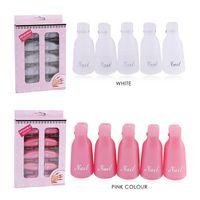 Wholesale 10 Plastic Nail Art Soak Off Cap Clip UV Gel Polish Remover Wrap Nail Tools Cleaner Soakers Set For Nails Soker